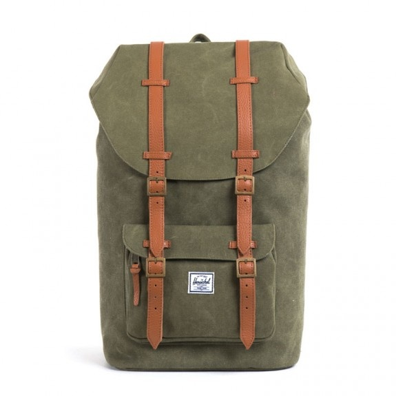 HERSCHEL LITTLE AMERICA Washed Army Bags