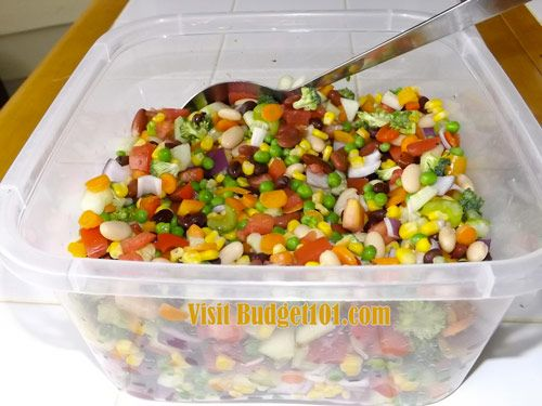 Rainbow Salad - use stevia in place of sugar and almond milk in place of milk - I am good with the beans but some are not...