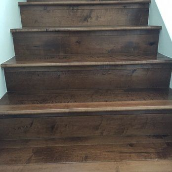 porcelain wood tile stairs - Google Search