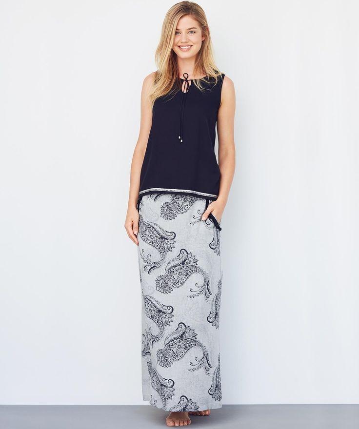 Catherine's 1068 Uzun Etek Takım #uzun #etek #longskirt #fashion #moda #yenisezon #etek #bluz #tunik #etektakım #yaz #alışveriş #siyah