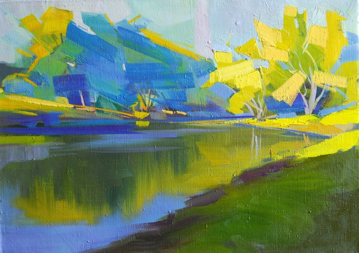 1000 images about landscape paintings on pinterest for Most beautiful abstract art