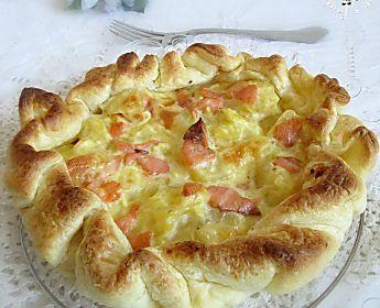 Torta rustica con patate e salmone