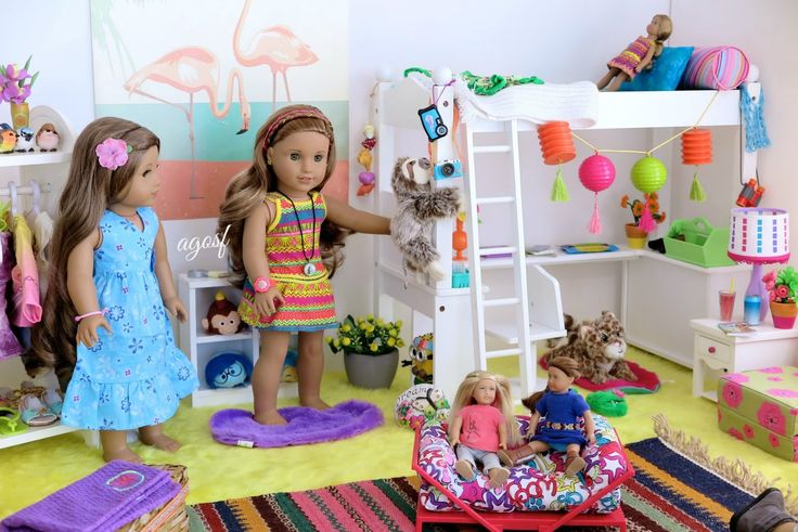 American Girl Doll Lea Clark's Bedroom ~ HD!