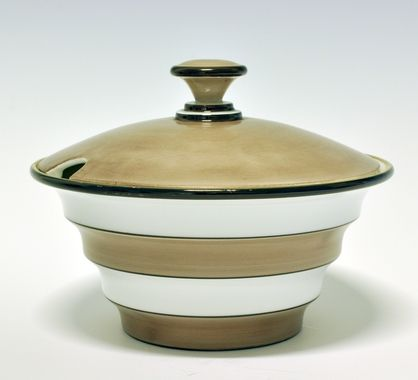 Soup-Tureen by Nora Gulbrandsen. Model 1880. Only 25 were sold, because the customers wanted handles.