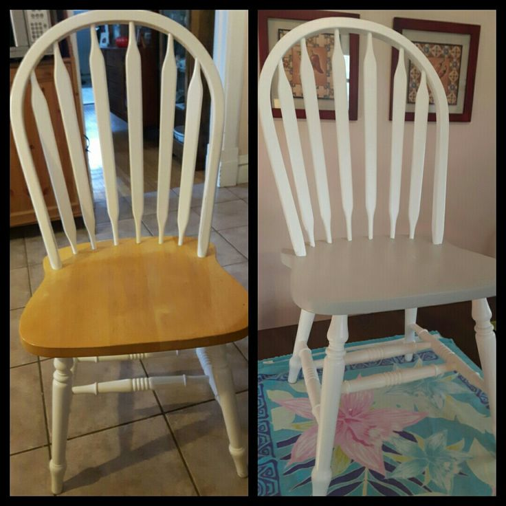 Chalk paint. Before and after Waxing not done.