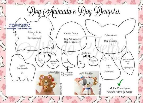 Feltro Fácil Moldes e Apostilas: Os Moldes de Cachorrinhos mais Fofos da Web!