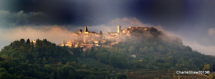 Todi in the mist - my favourite.