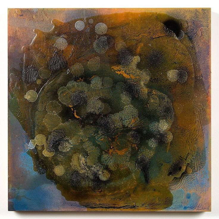 "Kevin Larmon ""CELL 20"" 2015 oil and mixed media on panel 18"" x 18"". Part of our group exhibition ""Summer Reverie.""  http://cb1.co/79 . For over three decades Kevin Larmon has received critical acclaim for creating paintings that lyrically explore the divide between abstraction and referential imagery. His work has been associated with the post-conceptualism and neo-conceptual art movements which were prominent aspects of exhibitions of the early 80s East Village Gallery Nature Morte and with…"