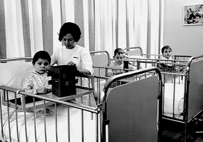 Sint Radboudziekenhuis, Nijmegen, kindergeneeskunde, 1967.