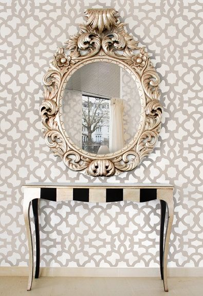 Decor trend: Geometric and Metallic.Two trends in one and it looks stunning