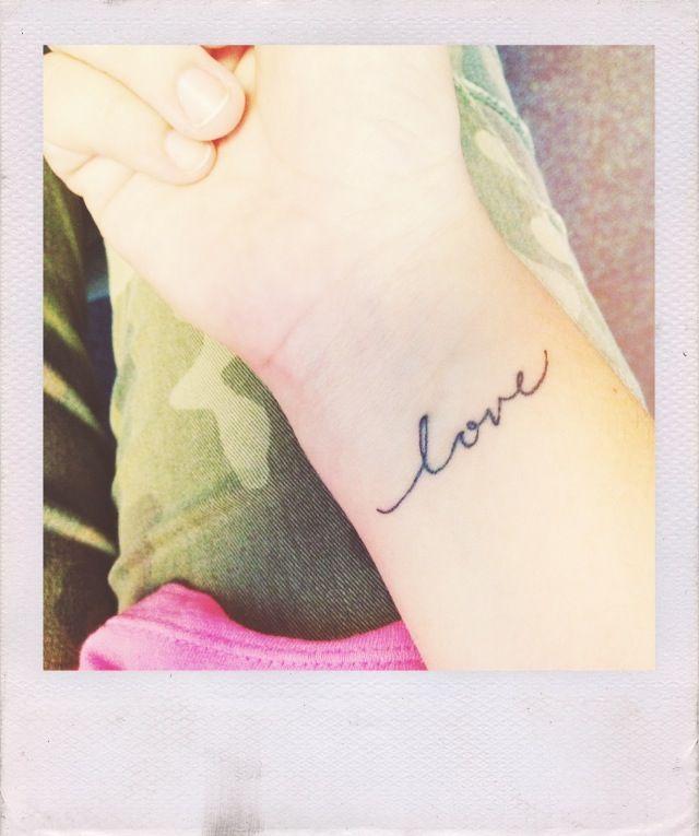 My new LOVE tattoo <3