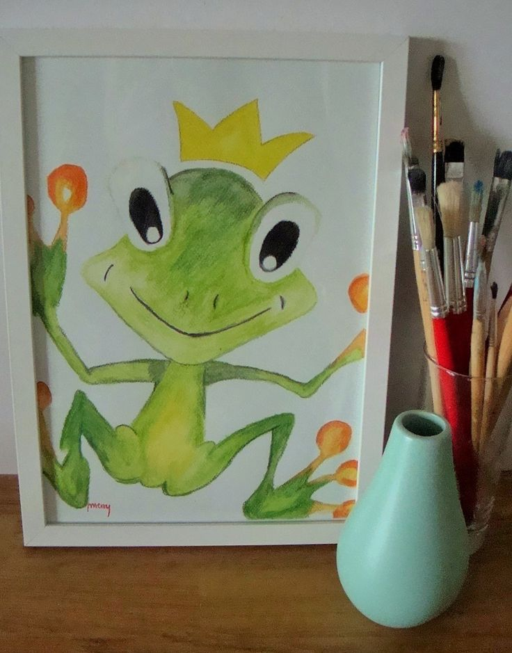 cute little frog - a prince forg from a fairy tail :)