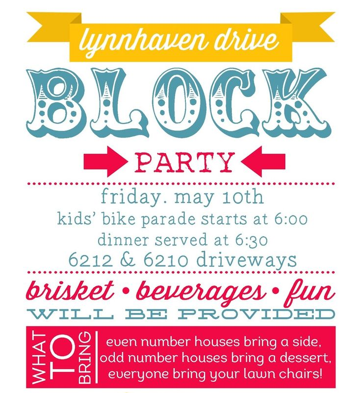 26 best flyers programs invitations images on pinterest for Block party template flyers free