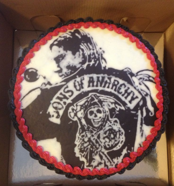Chocolate portrait Sons of Anarchy cake
