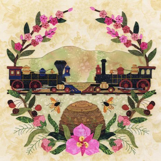 American Album Quilt pattern -Block # 12 Utah - Beehive State - by Pearl P. Pereira Designs
