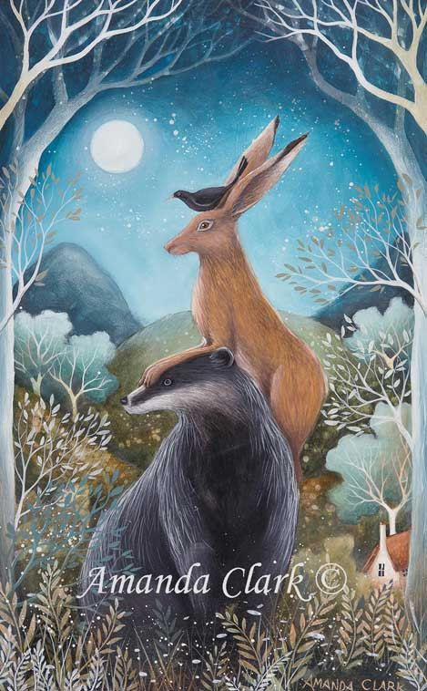 SALE    Limited edition giclee of The Badger by earthangelsarts