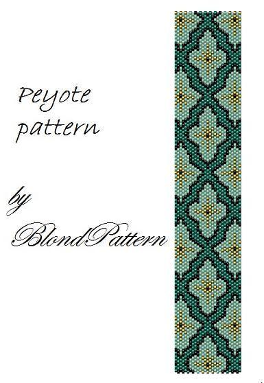 Ornament peyote pattern by BlondPattern on Etsy
