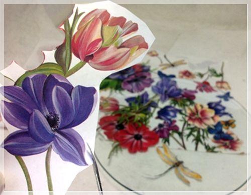 Piatto Anemoni in Fiore di Adele Marano