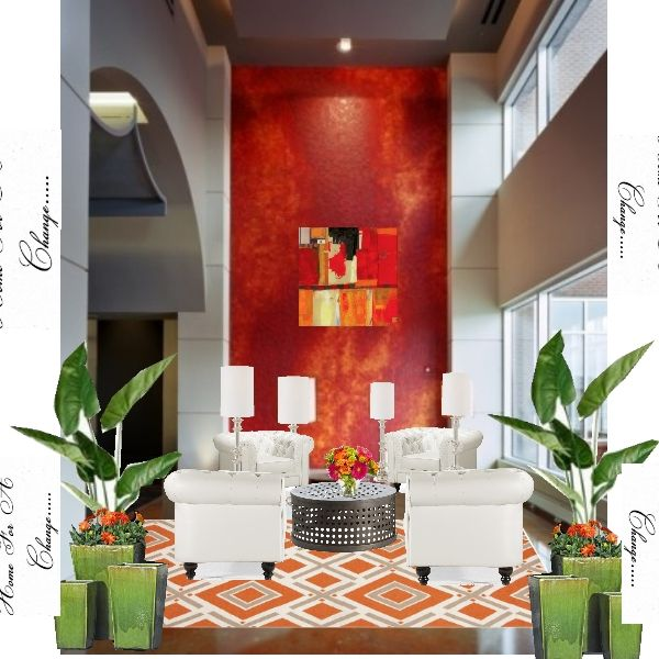 Drama With A Fresh Twist Hotel Lobby Concept Design By