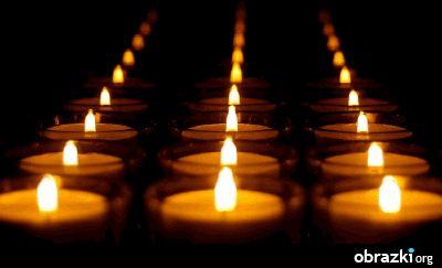 Pamięci Marii Czubaszek. JEDYNEJ TAKIEJ: WYJĄTKOWEJ, NIEPOWTARZALNEJ, KOCHANEJ   Świece płonące - swiece17.gif