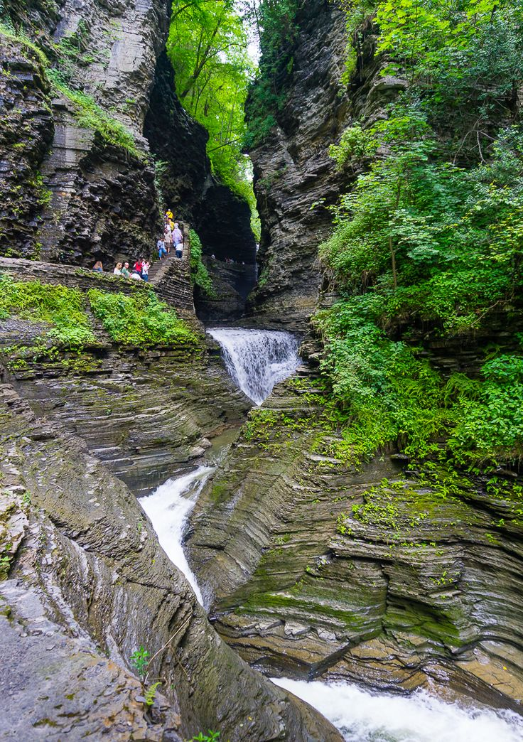 My New Favorite State Park: Watkins Glen, Finger Lakes, NY! Click the photo to see the full article with lots more beautiful nature pictures of the waterfalls and gorges.