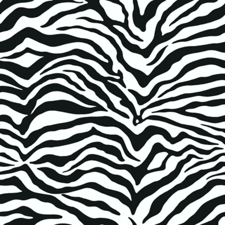 Behang Zebraprint zwart/wit