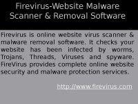 Firevirus-Website Malware Scanner & Removal Software