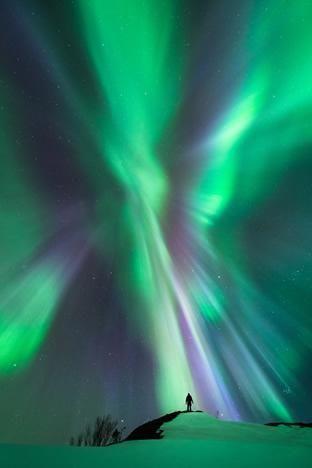 Aurora ~ Interaction by Tommy Eliassen 17 March 2015 Hemnesberget, Nordland, Norway