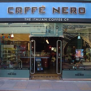 caffè nero all over Europe. Still have my punch card