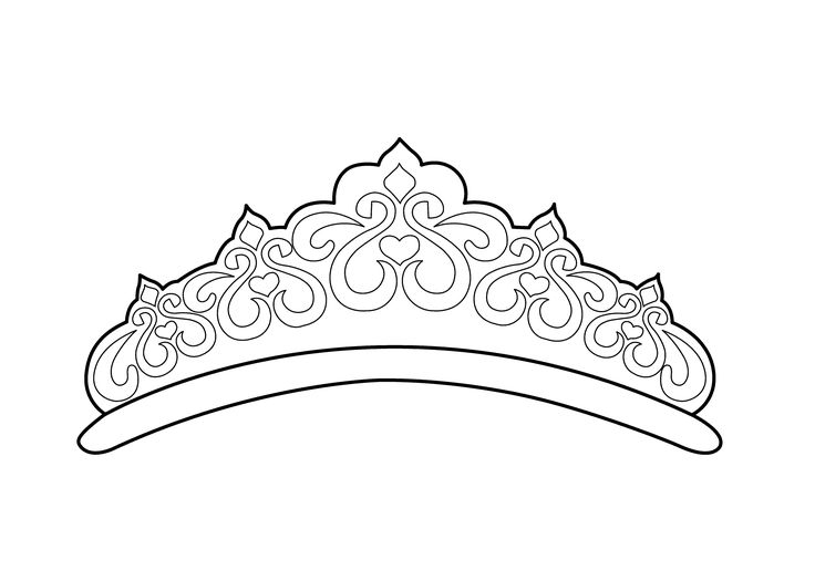 Beautiful Tiara Coloring Page For Girls Printable Free Tiara Coloring Page