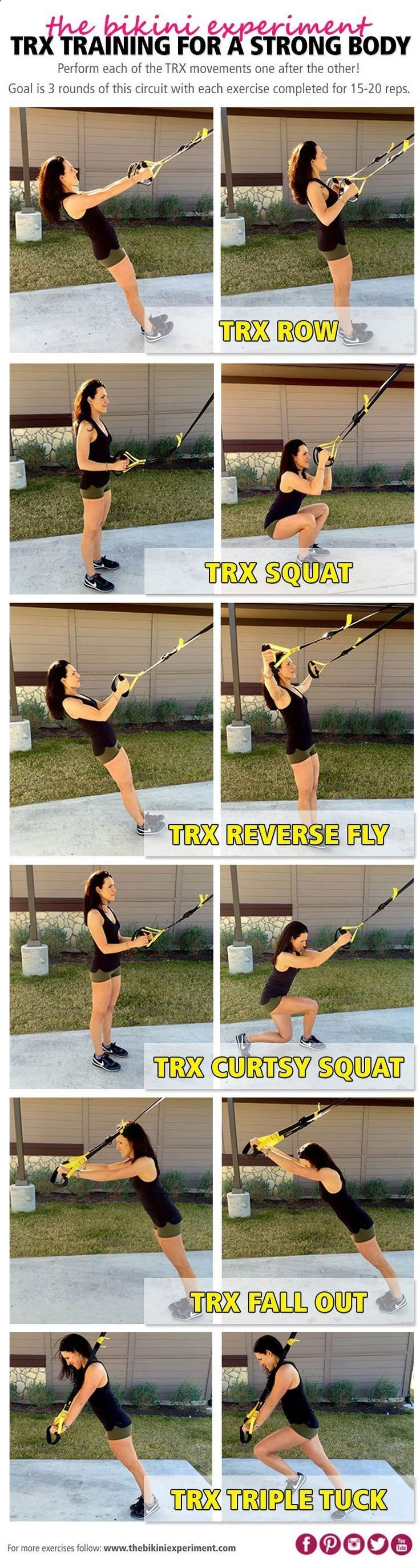 TRX training to build muscle and get strong! This full body workout is perfect f…
