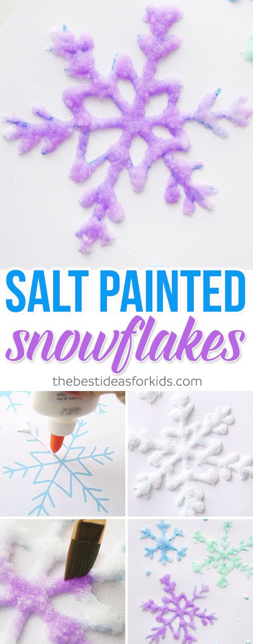 Snow painted snowflakes
