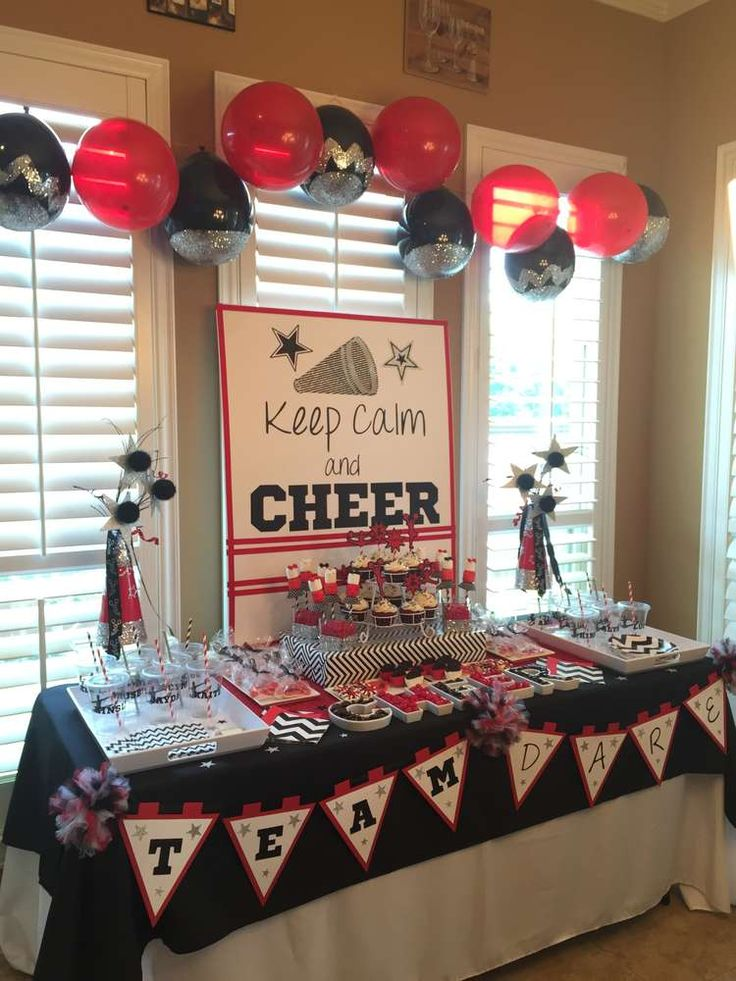 Cheerleading Cheer Party Party Ideas | Photo 5 of 12 | Catch My Party