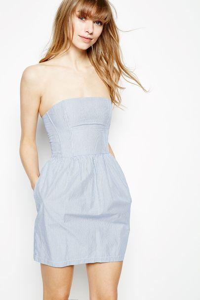DIDWORTHY STRIPED BANDEAU DRESS