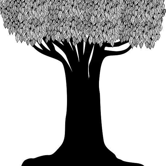 Tree Silhouette by Elle Fennah