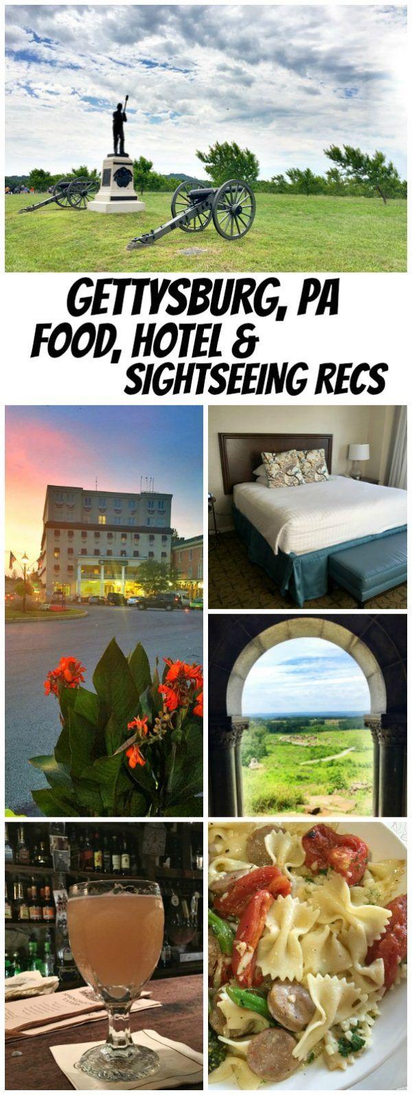 Gettysburg Hotel Review: + Gettysburg Restaurant Reviews and a peek at the Gettysburg Battlefield.  Gettysburg, Pennsylvania