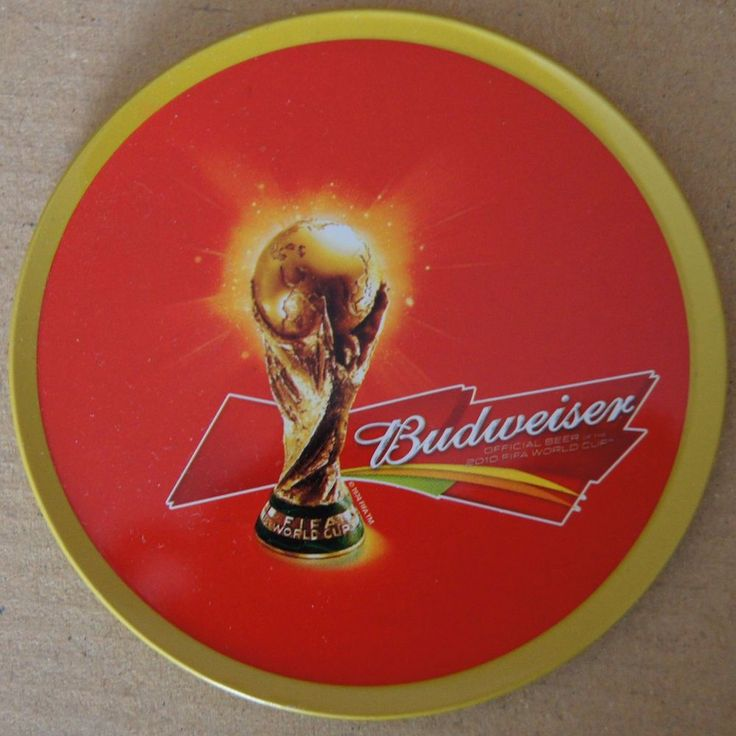 Chile Coaster Beer Cerveza Budweiser Official 2010 FIFA World Cup Soccer  | eBay