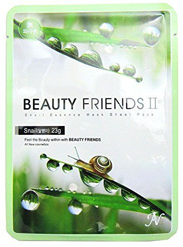 10 pcs Snail Vanedo Beauty Friends II Paraben Free Face Mask Sheet  1pcs Free NAEXY Moisturizing 2Steps Facial Mask Sheet Total 11pcs * For more information, visit image link. (Note:Amazon affiliate link)