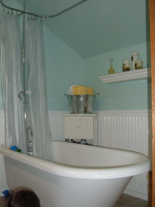 Etonnant Seaside Bathroom, I Recently Finished Remodeling The Tiny Bathroom In My  100 Year Old Home. Even Though I Live 30 Miles From The Nearest Beach (anu2026