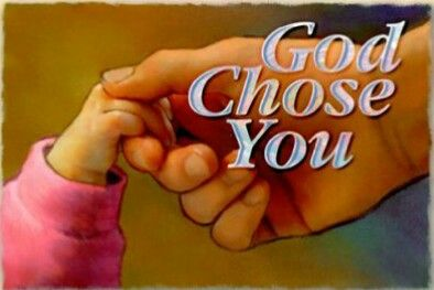 CHOSEN OUT OF THE WORLD You didn't choose me, but I chose you John 15:16 Commentary: These words have a special and wonderful meaning for God's children, and the daily prayer of each one of us should be: 'O Lord, I want these words to became real in my life, not only for today, but also for every day.' If indeed we have been chosen of God, then, whatever our difficulty or problem, God will surely provide a solution. All of us have problems, whether we are saved or unsaved,
