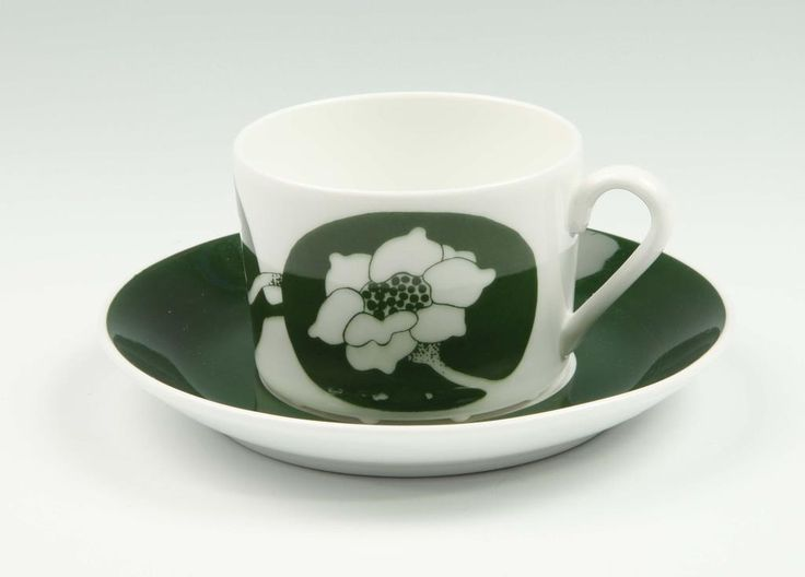 Annons på Tradera: Fleur - Kaffekopp med fat - Paul Hoff - Gustavsberg