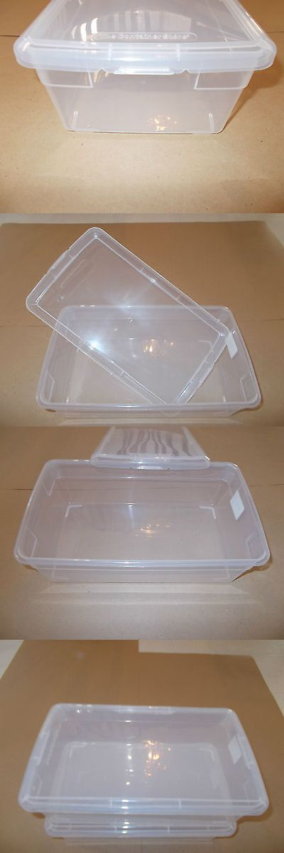 Holders and Boxes 71116: (20) Stackable Clear Plastic Storage Bin (Reloading Brass Bullet Primers) BUY IT NOW ONLY: $75.0