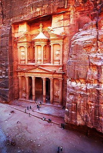 Petra, Jordan. As a history need I long to go to Petra and the Dead Sea.
