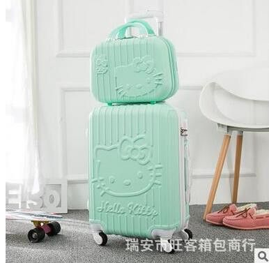 """Hello Kitty 20"""" Inch Travel Luggage Suitcase on wheels Luggage trolley bag cabin women suitcase Travel Rolling Case On Wheels"""