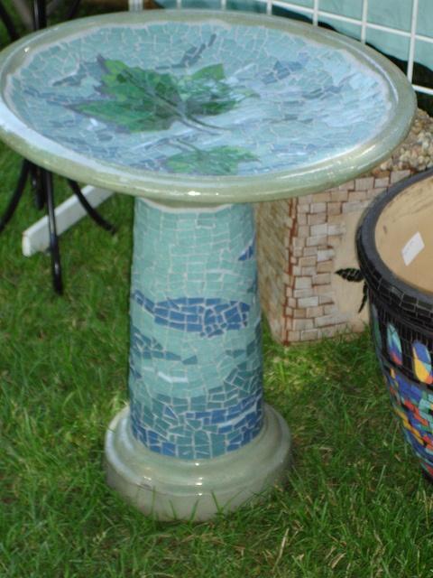 Terracotta Bird Bath Sycamore Bird Bath Glazed And Fired
