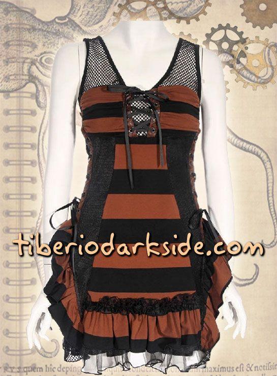 Vestido Steampunk Rayas Anchas de Tiberio Dark Side. por solo 49,00€