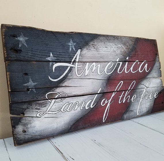 Amerika-Land der freien rustikal Palette von WhisperwingDesigns