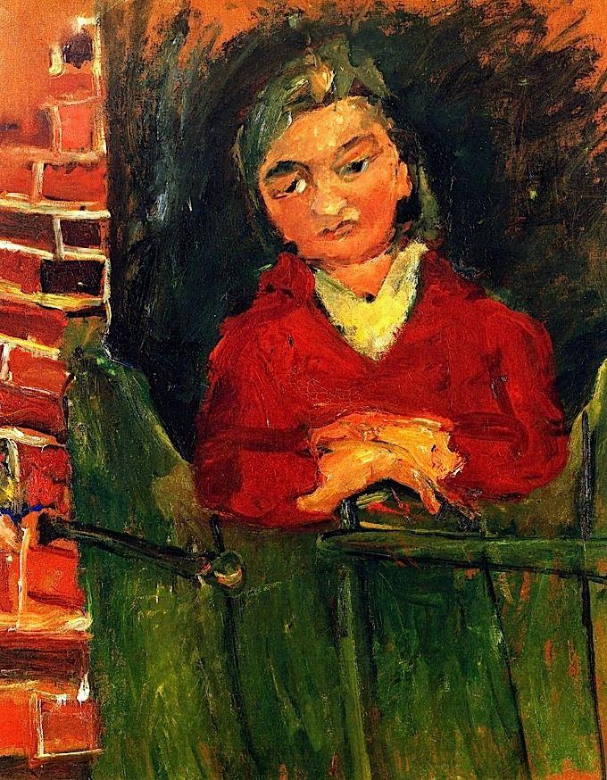 Farm Girl, Chaim Soutine - circa 1935-1936