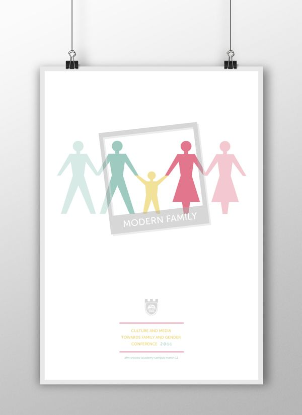 Culture and Media  Towards Family and Gender poster by kamila figura, via Behance
