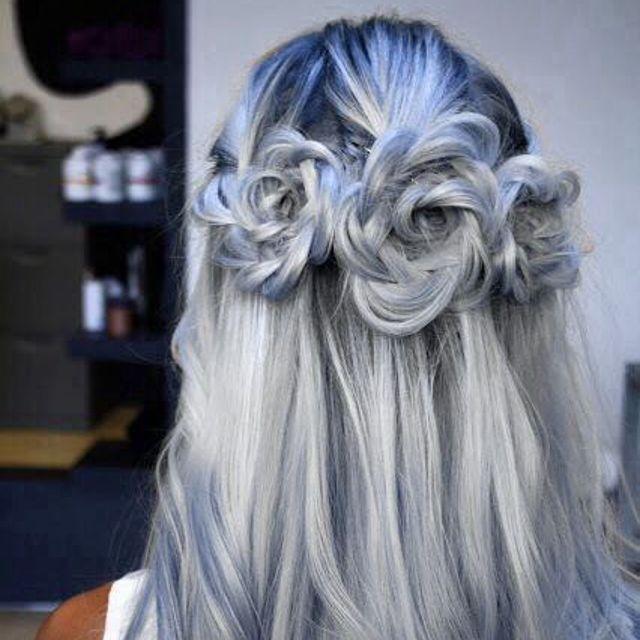 Cheveux bleus color trophy Coiffure, Cheveux, Coiffure